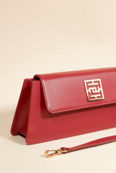 sac baguette kenza rouge