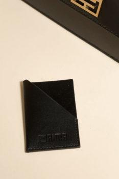 porte cartes cuir noir