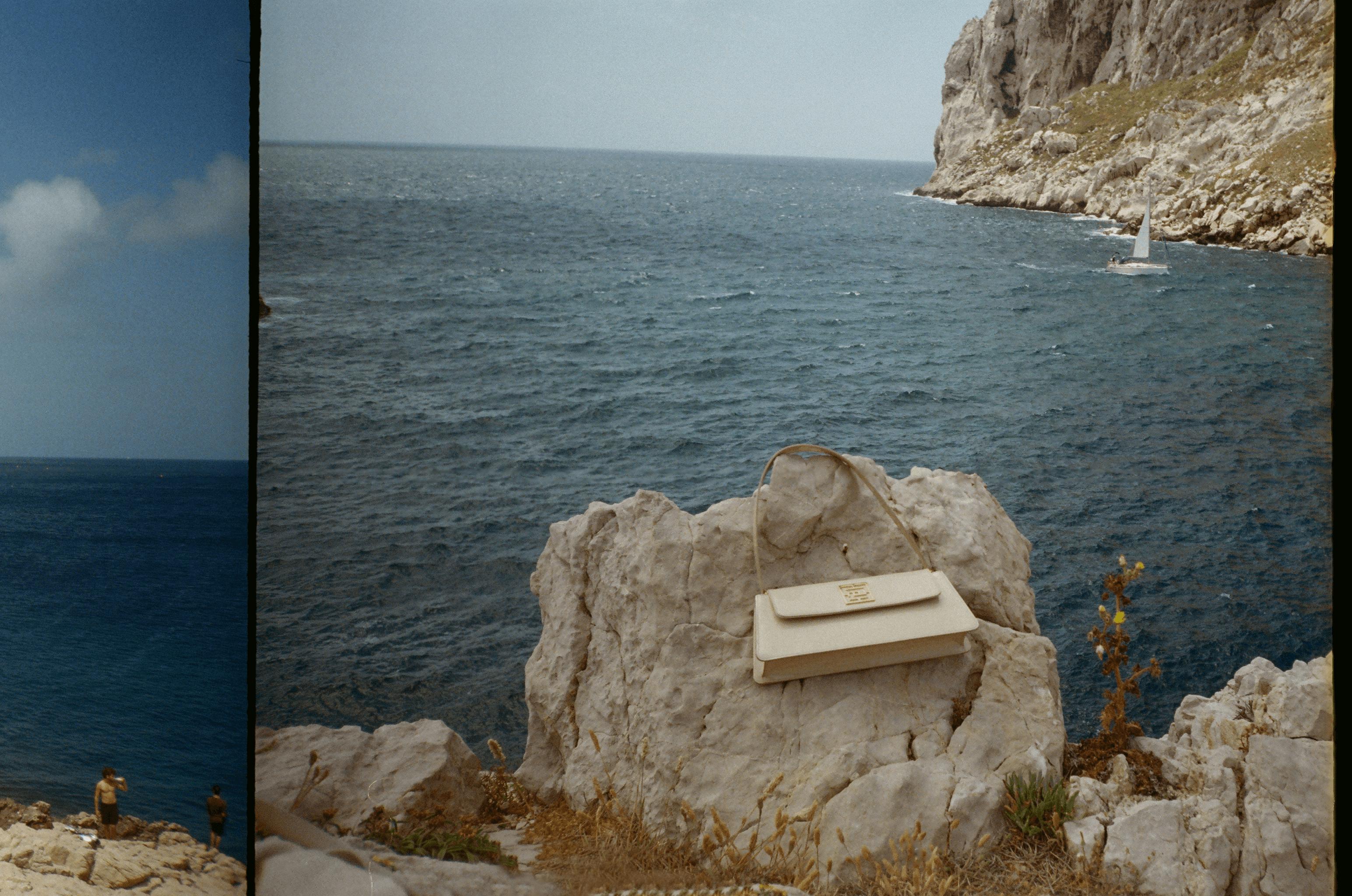 Photo d'un sac baguette beige à Marseille